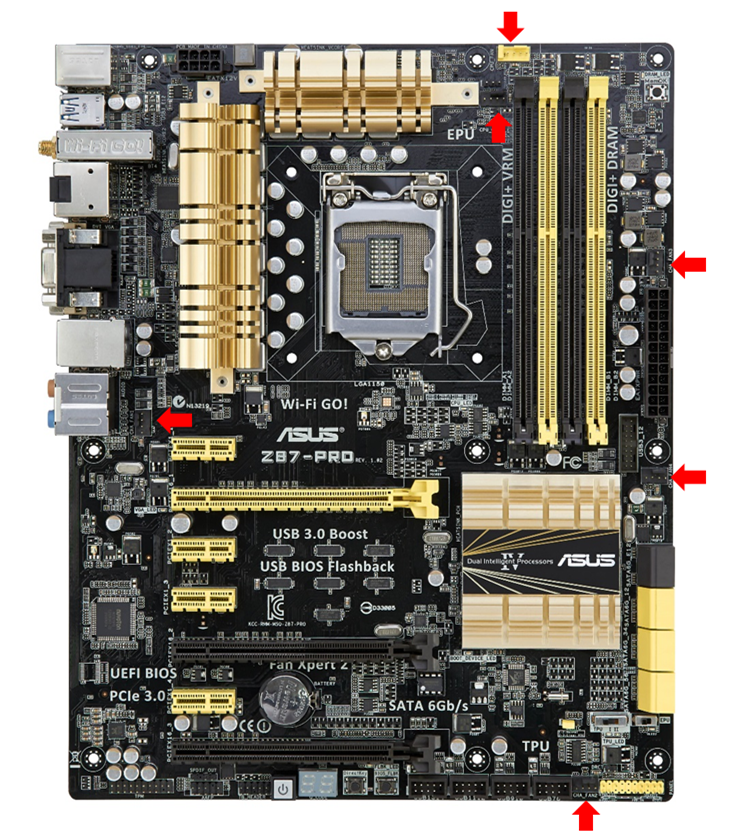Z87 Pro With Six Controllable 4-pin Fan Headers