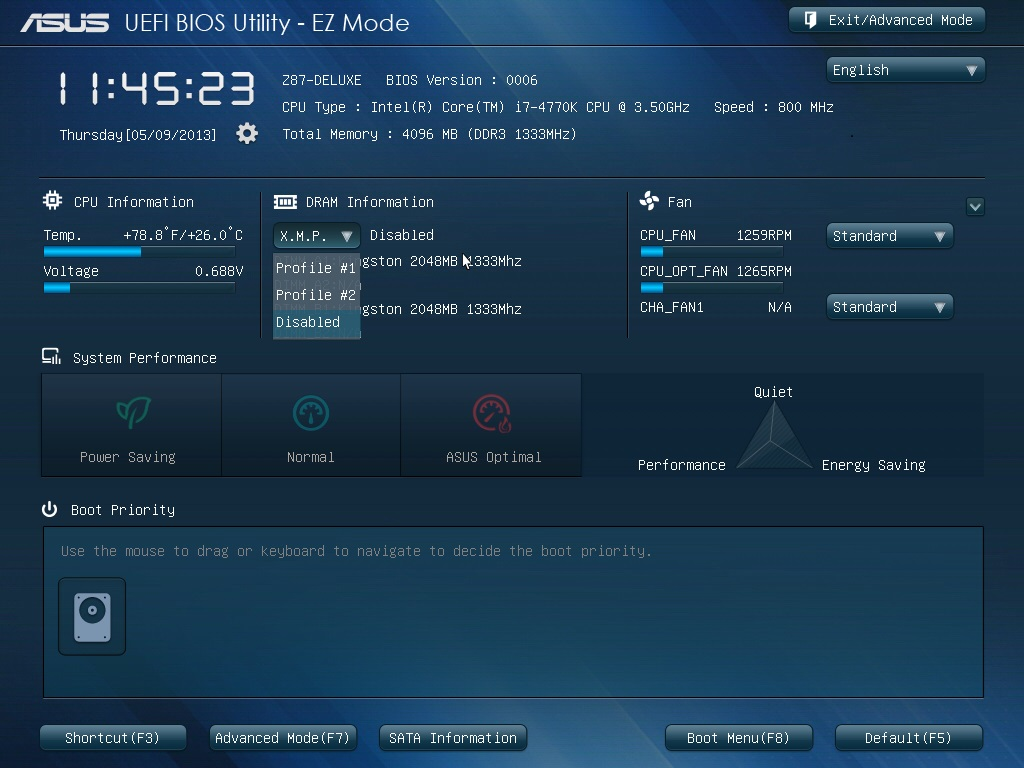 EZ Mode - Makes Setting Your Motherboard Up Easy