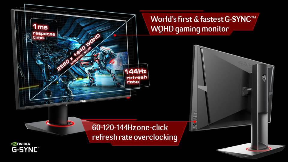 Pg278q Rog Swift Gaming Monitor The Best Gaming Monitor Ces
