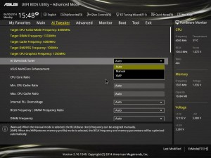 Z97 Ai Overclock Tuner Settings