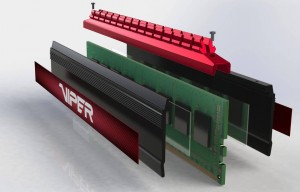 Viper 4 DDR 4 Heatsink assembly exploded view