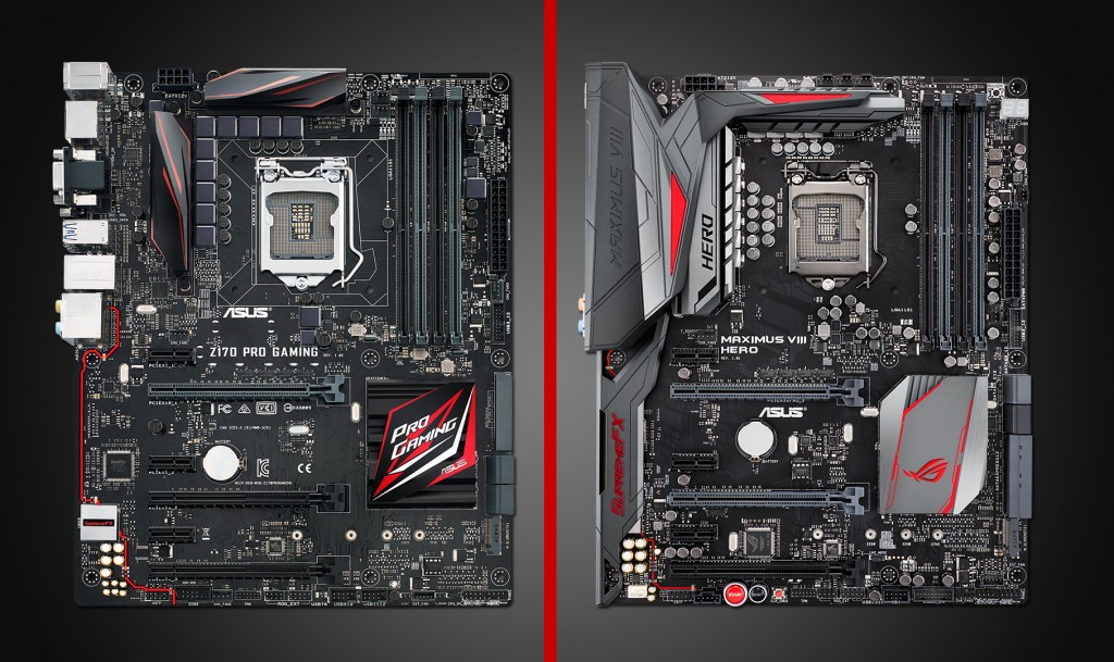 Z170 Pro Gaming vs Maximus VIII Hero