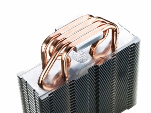 Cooler Master Hyper T4 underside - direct contact copper heatpipes