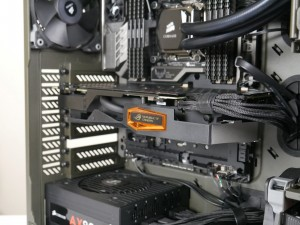 MATRIX GTX 980 Ti installed in system close shot
