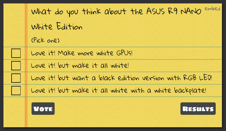 AMD R9 NANO White Edition Strawpoll
