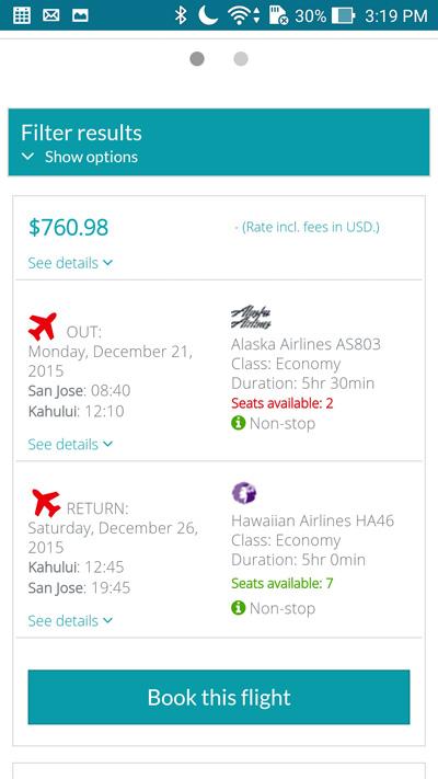ASUS ZenFone 2 Skyscanner