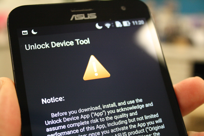 Unlock the ZenFone 2 Laser's bootloader - Edge Up