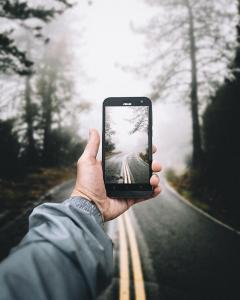 Phone open road