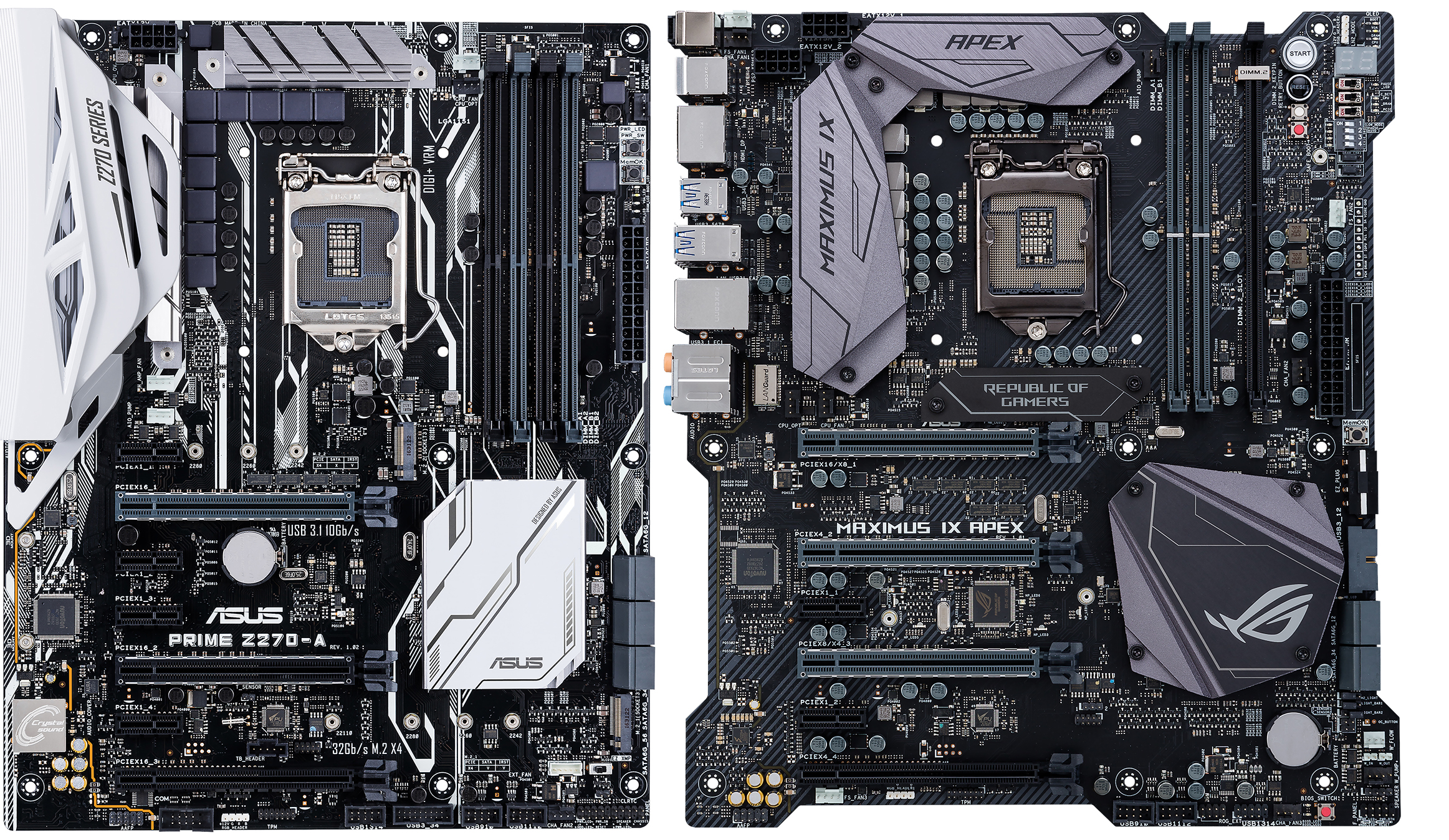 Which Asus Z270 Motherboard Should I Buy Page 4 Of 5 Edge Up The Diagrams Identify Main Components Intelr Desktop Board