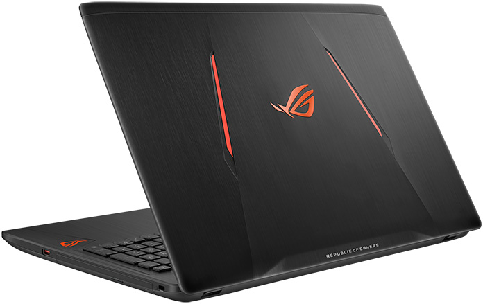 The ROG Strix GL553 looks stealthy in black
