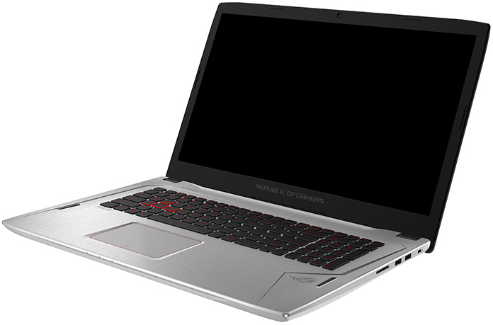 The ROG Strix GL702 flaunts its metallic skin