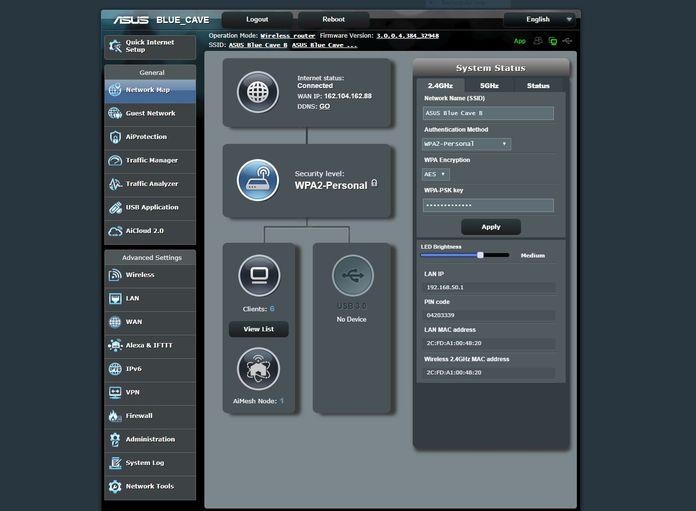 asus blue cave router setup