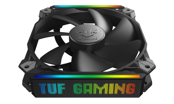 The TUF Gaming ARGB fan serves up high performance, a long